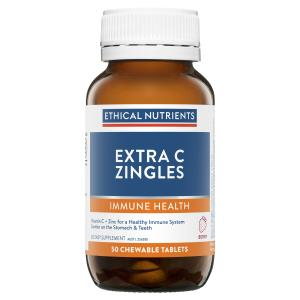 Ethical Nutrients IMMUZORB Extra C Zingles Berry 50 Chewable Tablets